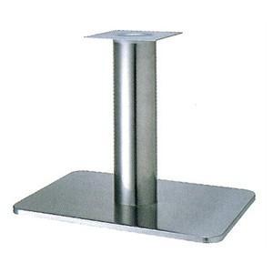 テーブル脚 マリオS7680 ベース680x455 パイプ76.3φ パイプ76.3φ 受座240x240 ステンレス AJ付 高さ700mmまで【※代引不可商品です】