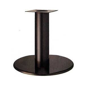 テーブル脚 ラウンドS7550 ベース550φ パイプ139φ 受座240x240 ジービーメッキ AJ付 高さ700mmまで【※代引不可商品です】
