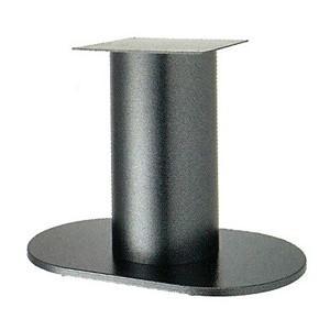 テーブル脚 ロマンS7750 ベース750x450 パイプ210φ 受座350x350 Aシルバー紛体塗装 Aシルバー紛体塗装 AJ付 高さ700mmまで【※代引不可商品です】