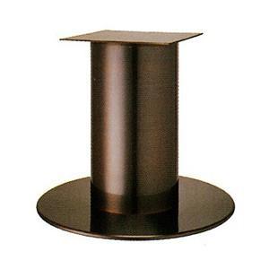 テーブル脚 ソフトS7570 ベース570φ パイプ210φ 受座350x350 ジービーメッキ AJ付 高さ700mmまで【※代引不可商品です】