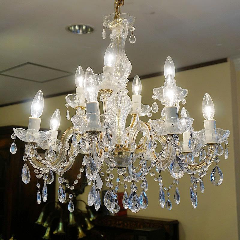 ヴィンテージ シャンデリア 12灯 ルミナ社(電球なし)【送料無料】ビンテージ アンティーク 照明