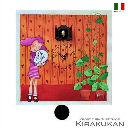 掛け時計 モダン 鳩時計 ピロンディーニ イタリア製 coccole Art:132