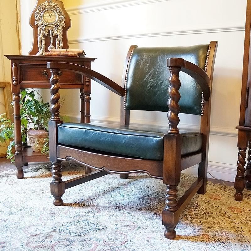 アンティーク家具(リプロダクト)アームチェア・パーソナルチェア 1人掛け 1人掛け 椅子 イス 送料無料 JG510-G