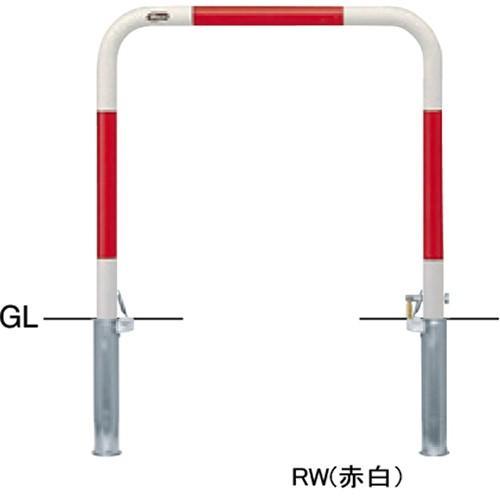 メーカー直送 サンポール アーチ φ42.7(t2.3)×W700×H650mm カラー:赤白 [FAA-42SK7-650(RW)]