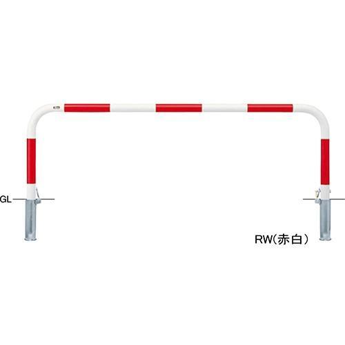 メーカー直送 サンポール アーチ φ60.5(t2.8)×W2000×H650mm カラー:白 [FAA-7SK20-650(W)]