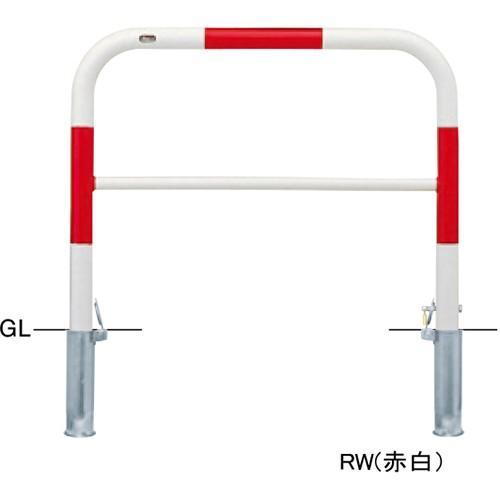 メーカー直送 サンポール アーチ 交換用本体のみ φ60.5(t2.8)×W1000×H800mm カラー:赤白 [FAH-7SK10-800(RW)HONTAI]