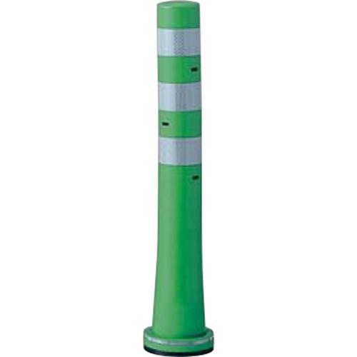 メーカー直送 サンポール ガードコーン φ80,台座径φ130×H650mm カラー:グリーン [RBHS-65(G)]