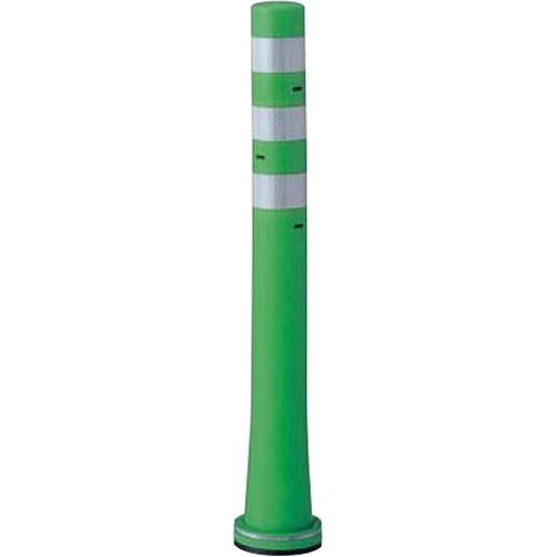 メーカー直送 サンポール ガードコーン φ80,台座径φ130×H800mm カラー:グリーン [RBHS-80(G)]