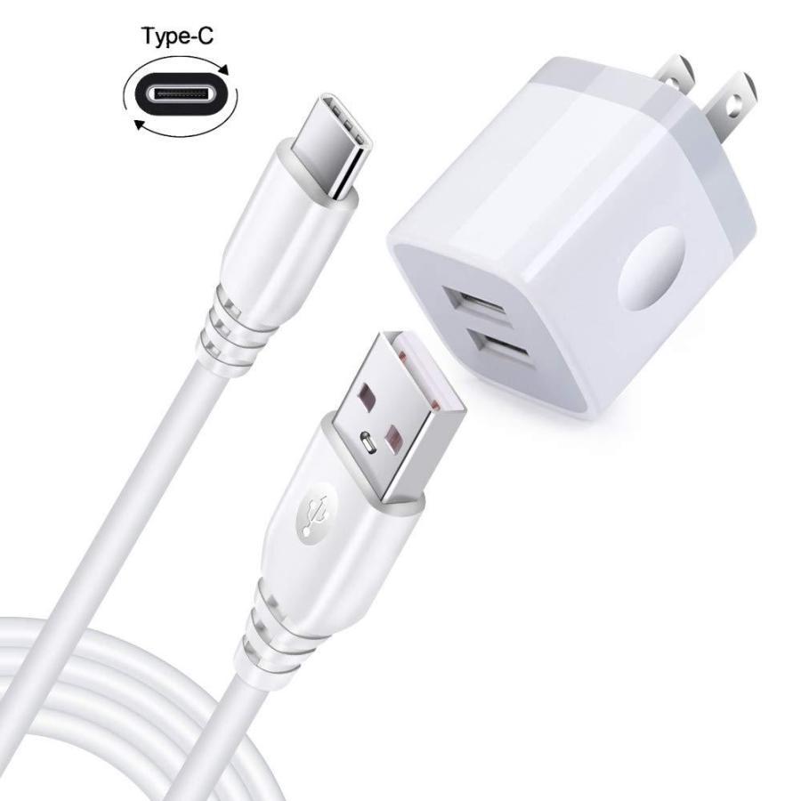 Hootek USB急速充電器 USB充電器 USB電源アダプタ AC充電器 スマホ急速充電器 NEW ARRIVAL ケーブ タイプc Android急速充電器2ポート スマホ 全品送料無料 ケーブル1本付き USBコンセント