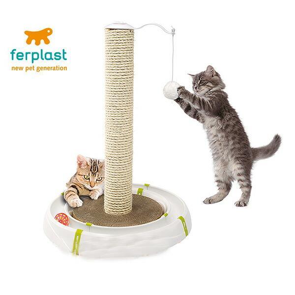 猫用おもちゃ マジックタワー 85100600 猫 ねこ ネコ おもちゃ 猫じゃらし ボール くるくる ストレス解消 玩具 サーキット 遊ぶ 小型犬 フェレット 小動物
