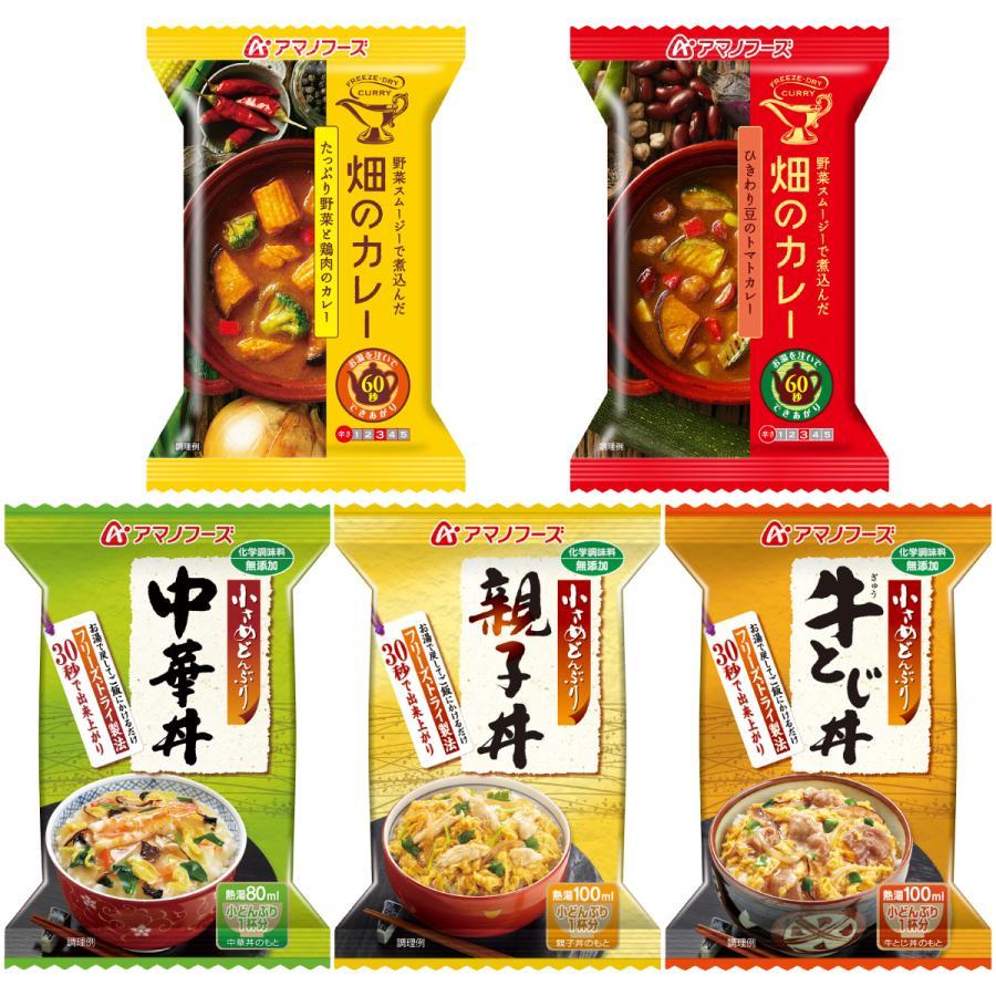 アマノフーズ フリーズドライ 丼 カレー 5種から 選べる 5種15食 セット インスタント食品 惣菜 常温保存 新生活 ホワイトデー お返し ギフト|e-monhiroba|08