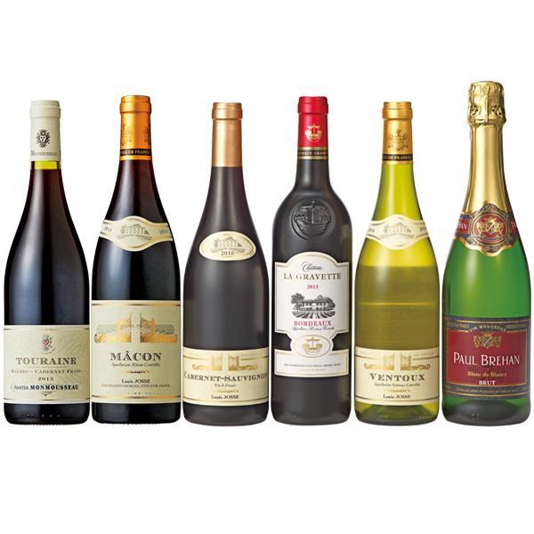 フランスワイン飲み比べ 750ml×6本セット