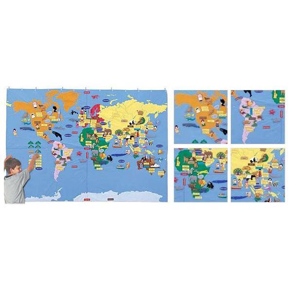 布製遊具/世界地図