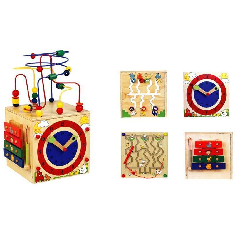 木製玩具 アクティビティキューブ