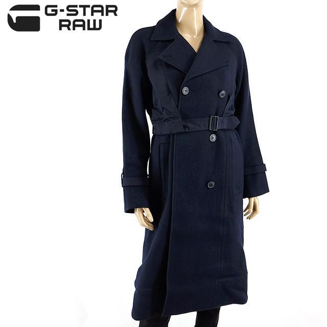 注目の ジースター ロウ(G-STAR RAW)レディース コート ネイビー系  ロング丈 ダブル (サイズ/S)*gs0416, 清和村 dfca051e