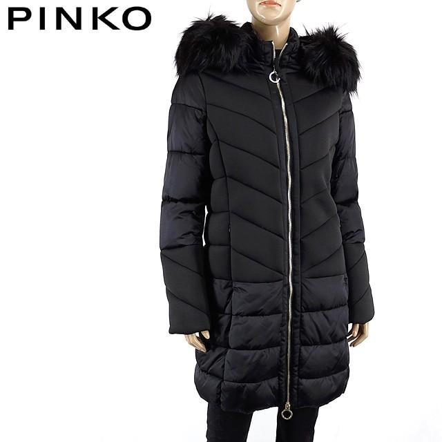 【爆売り!】 ◎ピンコ(PINKO)レディース コート ブラック系  中綿入り ジップアップフード付き (サイズ/42)*pi0155, 八潮市 b0ff8db4