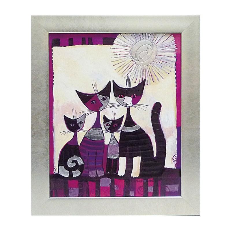 絵画 絵 壁掛け アート 猫 ネコ キャット インテリア インテリア 玄関 ロジーナ コンコルディア RW-11012