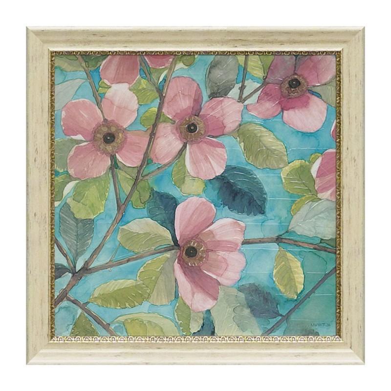 絵画 絵画 壁掛け インテリア 花 アートパネル ノーマン ワイアット ジュニア ブロッサミング デュオ2 NW-14002 ギフト プレゼント 贈り物