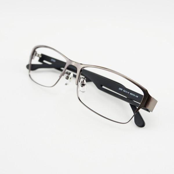 大きいメタルフレーム 60サイズ 度付きメガネ ダテめがね メンズ ブルーライトカット 大きな顔向き|e-zone|16