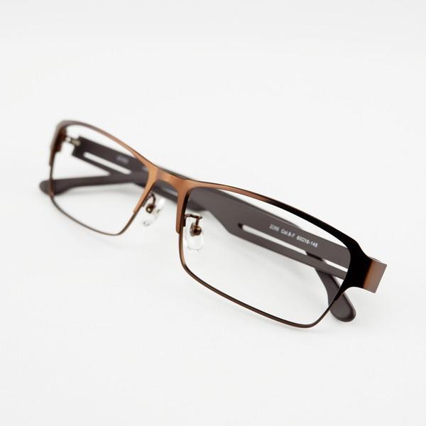 大きいメタルフレーム 60サイズ 度付きメガネ ダテめがね メンズ ブルーライトカット 大きな顔向き|e-zone|17