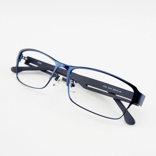 大きいメタルフレーム 60サイズ 度付きメガネ ダテめがね メンズ ブルーライトカット 大きな顔向き|e-zone|18