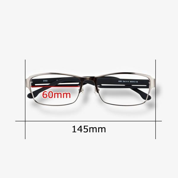 大きいメタルフレーム 60サイズ 度付きメガネ ダテめがね メンズ ブルーライトカット 大きな顔向き|e-zone|09