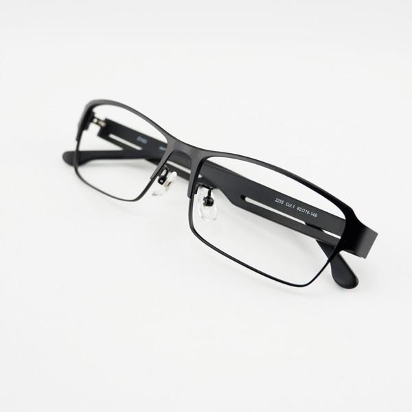 大きいメタルフレーム 60サイズ 度付きメガネ ダテめがね メンズ ブルーライトカット 大きな顔向き|e-zone|15