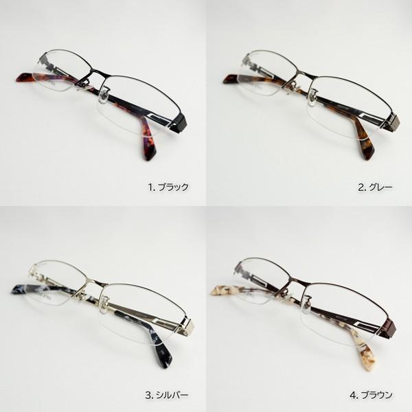メガネ 大きいサイズ ハーフリム レンズ込み メンズ BIGフレーム 顔大きい 60サイズ 度付き眼鏡 伊達 ダテめがね ブルーライト PC 男性|e-zone|13