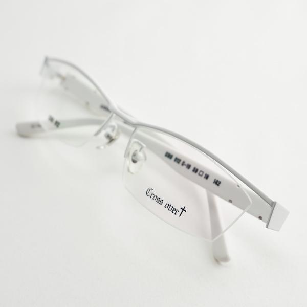 大きいメガネ ちょい悪 レンズ込み メンズ ビックフレーム 度付き眼鏡 伊達めがね ダテ 白 ホワイト ゴールド おしゃれ ドライブ バイク UVカット 男性 e-zone 11