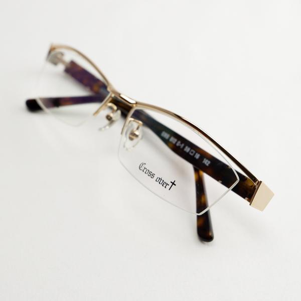 大きいメガネ ちょい悪 レンズ込み メンズ ビックフレーム 度付き眼鏡 伊達めがね ダテ 白 ホワイト ゴールド おしゃれ ドライブ バイク UVカット 男性 e-zone 09