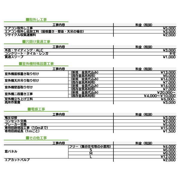エアコン 標準取付工事費 取り付け工事のみ 福岡地域限定 他店購入分取付可能 ルームエアコン 取り付け費用 e3-style 04