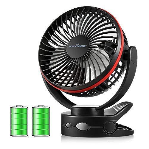 【2020年最新改良版】 KEYNICE usb扇風機 卓上扇風機 クリップ 充電式 usbファン 超強風 静音 風量4段階調節 360度角|ea-s-t-store