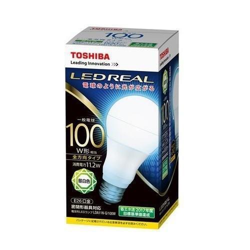 東芝 【ケース販売特価 10個セット】 LED電球 一般電球形 一般電球100W形相当 昼白色 口金E26 《LED REAL》 全方向タ