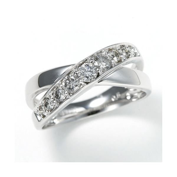 【税込?送料無料】 レビューで次回2000円オフ 直送 0.5ct ダブルクロスダイヤリング 指輪 エタニティリング 17号 ファッション リング・指輪 天然石 ダイヤモンド, ミノブチョウ 7bd1c24c