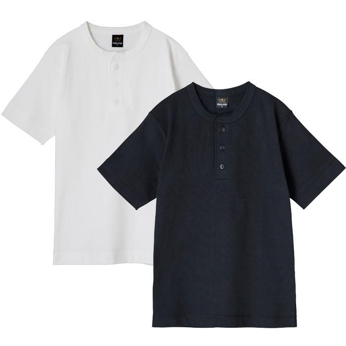 ヘンリーネック半袖無地Tシャツ