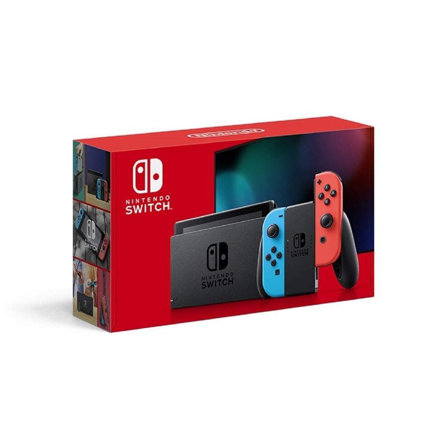 未使用新古品 Nintendo Switch 本体 (ニンテンドースイッチ) Joy-Con(L) ネオンブルー/(R) ネオンレッド(バッテリー持続時間が長くなったモデル)
