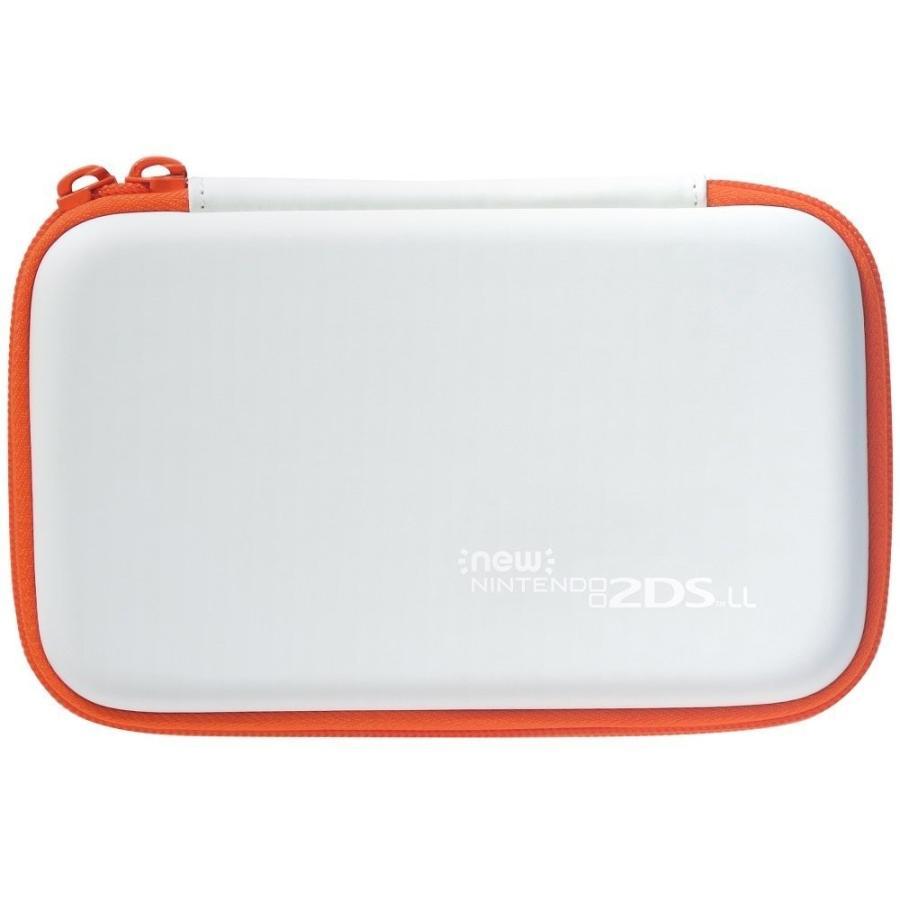 【2DS LL対応】スリムハードポーチ for Newニンテンドー2DS LL ホワイト×オレンジ  JAN4961818028289|eakindo3|02