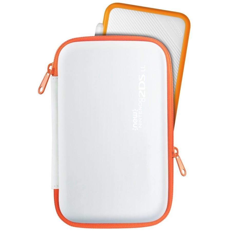 【2DS LL対応】スリムハードポーチ for Newニンテンドー2DS LL ホワイト×オレンジ  JAN4961818028289|eakindo3|03