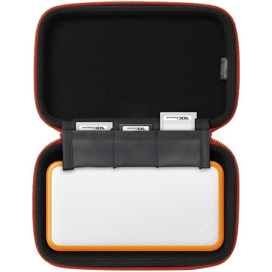 【2DS LL対応】スリムハードポーチ for Newニンテンドー2DS LL ホワイト×オレンジ  JAN4961818028289|eakindo3|04