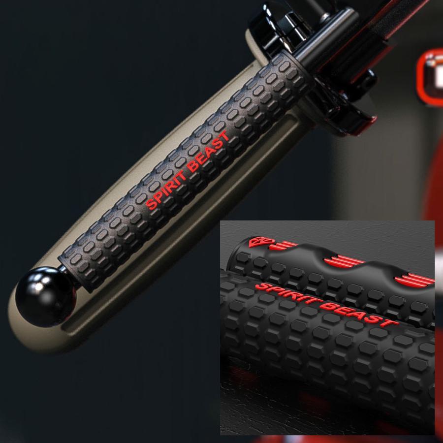 レバーカバー ブレーキ クラッチ 滑り止め 汎用 ラバー製 ブラック レッド 左右セット S-940|eale|02