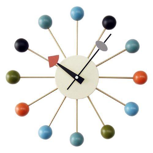 ジョージネルソン ボールクロック 好評受付中 マルチカラー 掛け時計 2020A W新作送料無料 正規ライセンス品