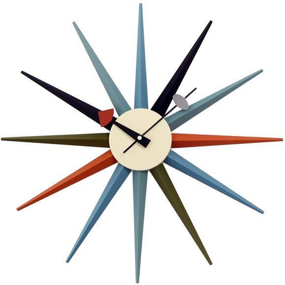 ジョージネルソン 掛け時計 サンバーストクロック マルチカラー 正規ライセンス品|eameschair-y