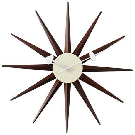 ジョージネルソン サンバーストクロック ウォールナット ウォルナット  掛け時計 正規ライセンス品|eameschair-y