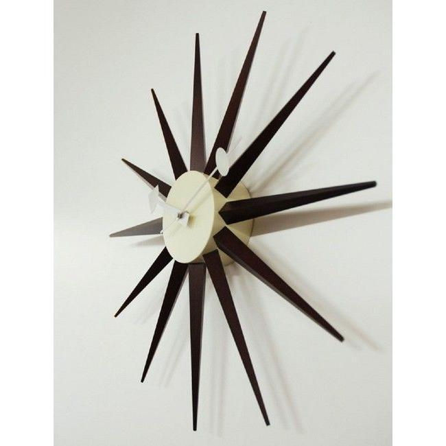 ジョージネルソン サンバーストクロック ウォールナット ウォルナット  掛け時計 正規ライセンス品|eameschair-y|02