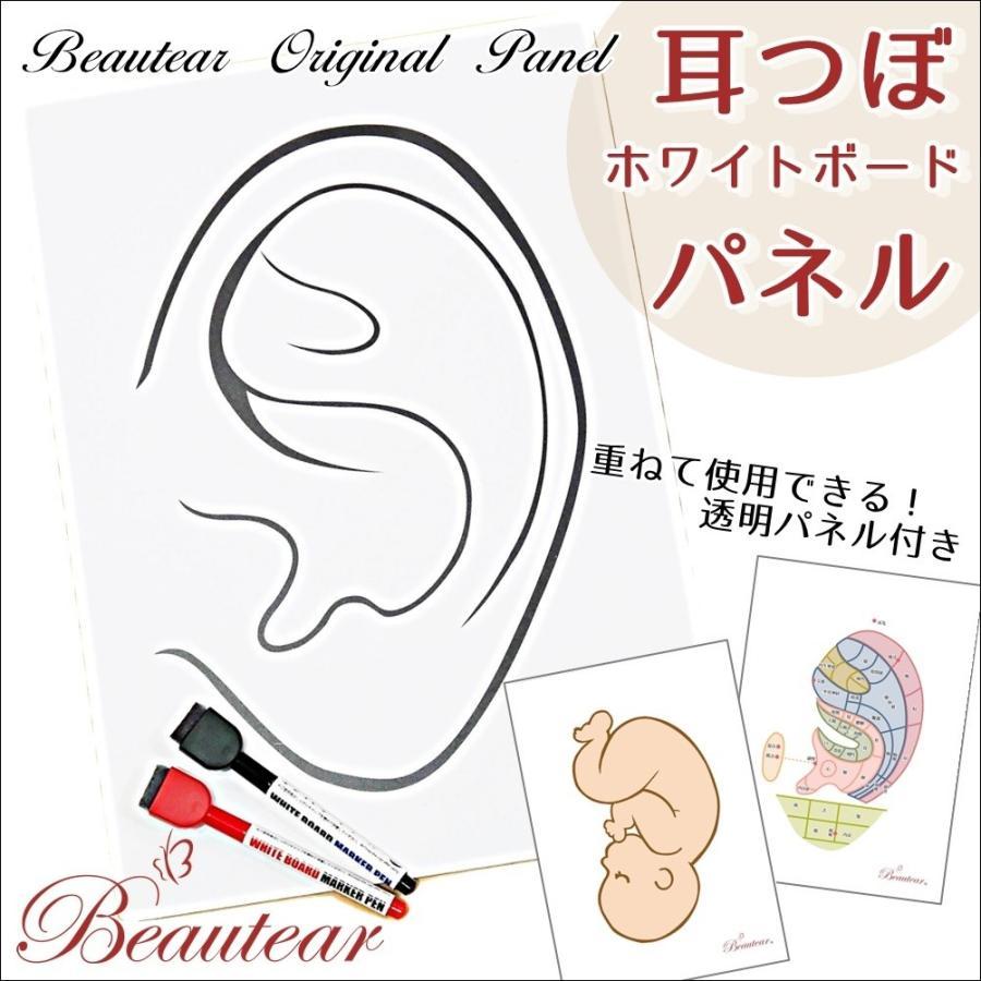 ◆Beautear Pro◆ 1点3枚組セット 耳つぼ専用 パネル ホワイトボード クリアパネル 講座用ボード 耳イラスト 耳つぼ Beautear|ear-heartdrop