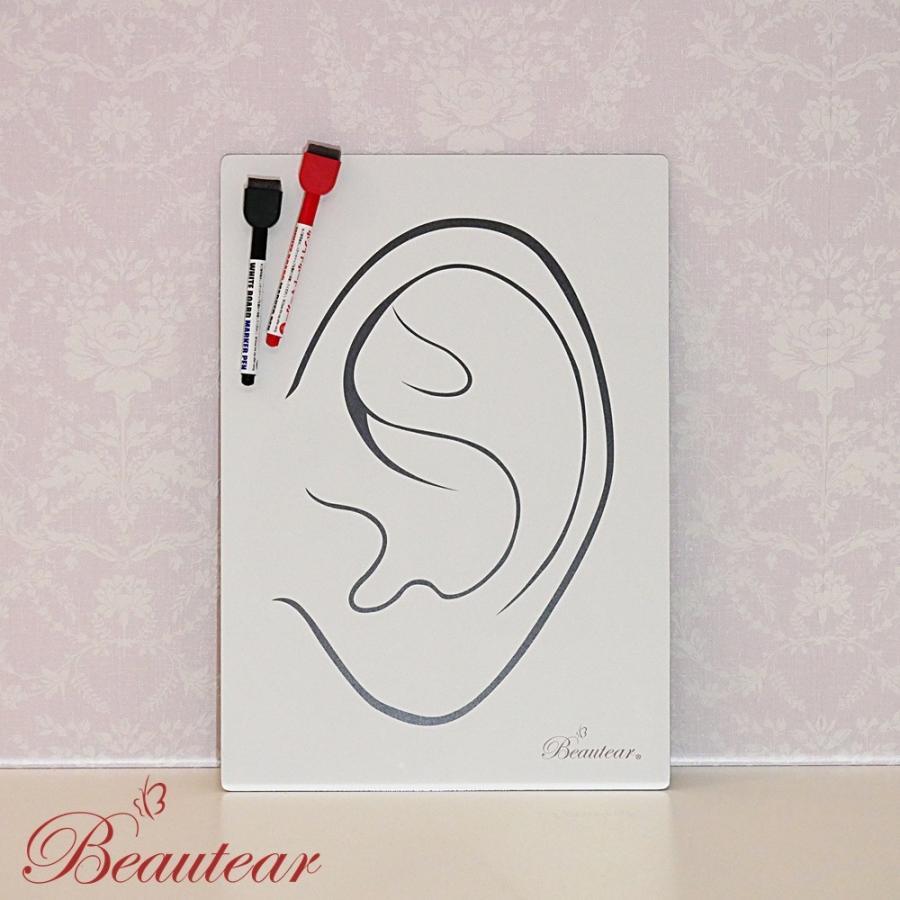 ◆Beautear Pro◆ 1点3枚組セット 耳つぼ専用 パネル ホワイトボード クリアパネル 講座用ボード 耳イラスト 耳つぼ Beautear|ear-heartdrop|04