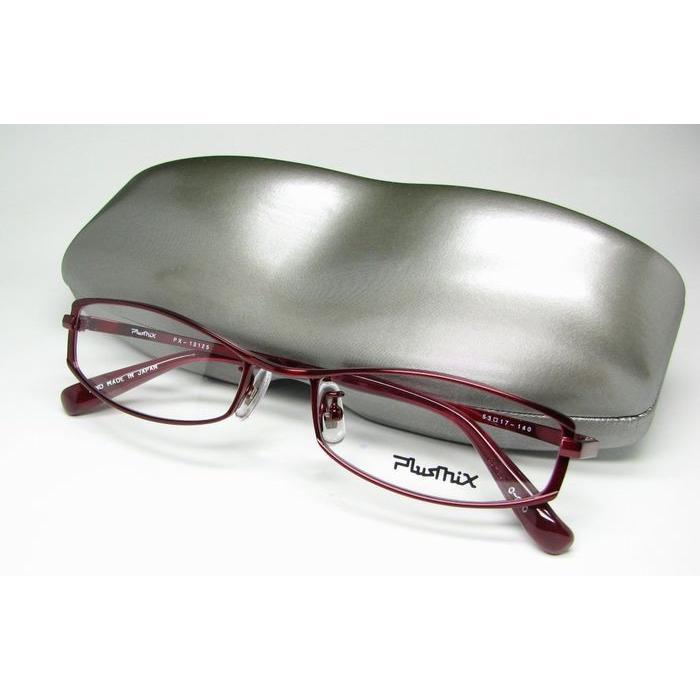 メガネ 眼鏡 度付レンズ 加工無料 PlusMix プラスミックス PX 13125 レッド col200