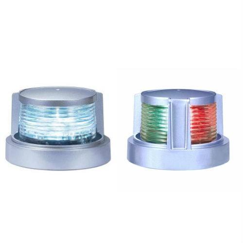 航海灯 小糸 人気の定番 白灯 両色灯 2個セット 小糸製作所 LED航海灯 期間限定の激安セール 小型船舶用 12V シルバー 24V兼用 ボディ色 第2種 船灯