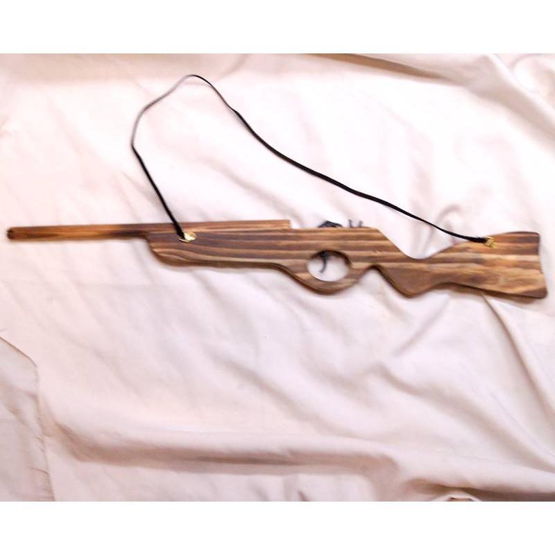日本産 授与 木製 輪ゴム 遊戯用玩具 ライフル銃