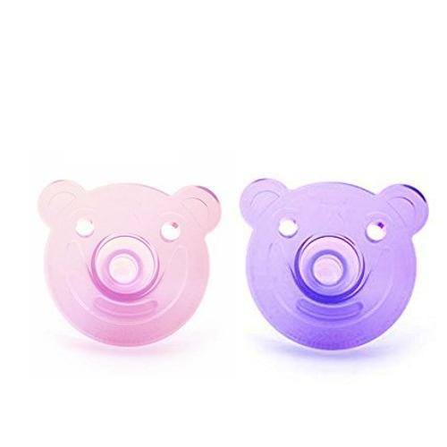 宅配便送料無料 フィリップス Avent Soothie Pacifier 日本メーカー新品 おしゃぶり 0-3ヶ月用 Shape ピンク1つamp;パープル1つ計2個
